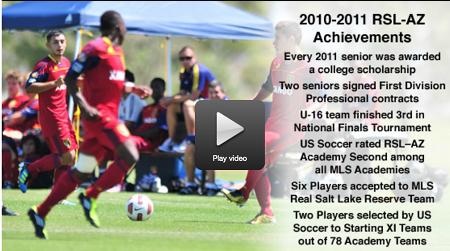 Video on Grande Sports Academy and Real Salt Lake -Arizona soccer academy.