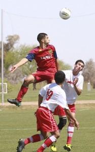 RSL-AZ Ricardo Velasco, heads above the others in his soccer skills