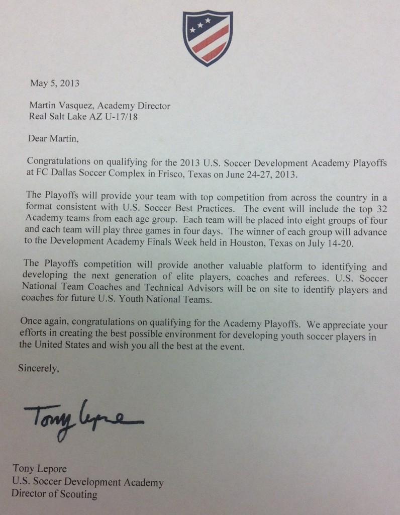 U18 Academy Qualifies U.S. Soccer Development Academy Real Salt Lake