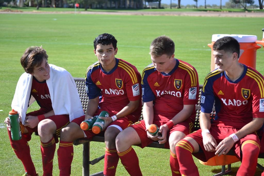 Grande Sports Academy - Real Salt Lake - G.Cleverly - Jack Gayton, Damian German, Corey Baird, Eric Carbajal