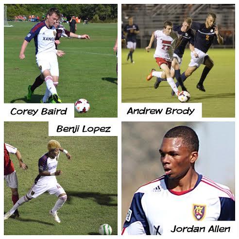 Andrew Brody, Jordan Allen, Benji Lopez, Corey Baird