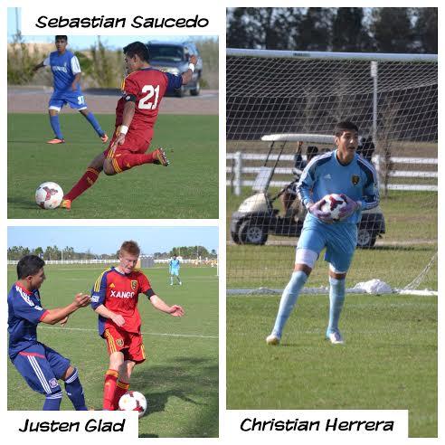Christian Herrera, Justen Glad, Sebastian Saucedo