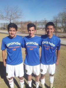 Alejandro Parra, Roby Orona, Diego Robles